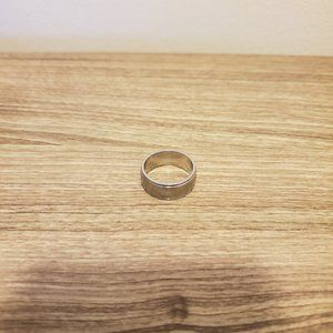 Men's Plain Stainless Steel Wedding Band - Size 8
